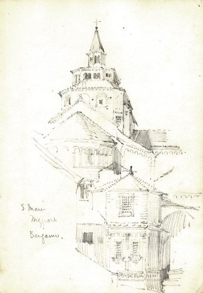 Detail from Mackintosh's Italian sketchbook from his tour of Italy in 1891